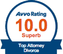 Avvo 10 out of 10 superb rating badge
