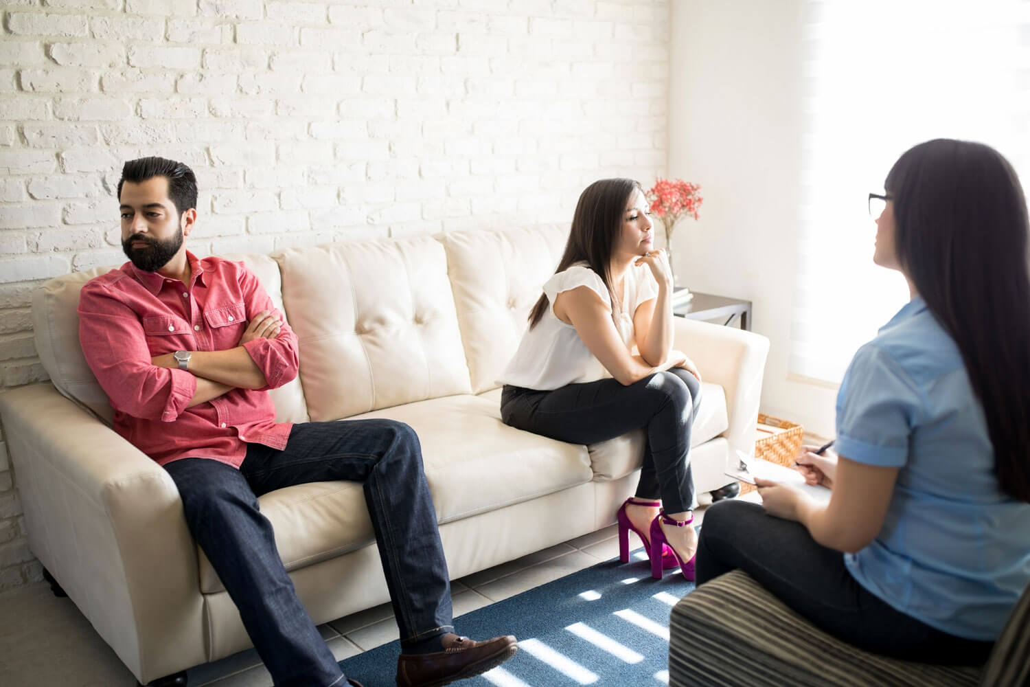 Couple in divorce meditation counseling